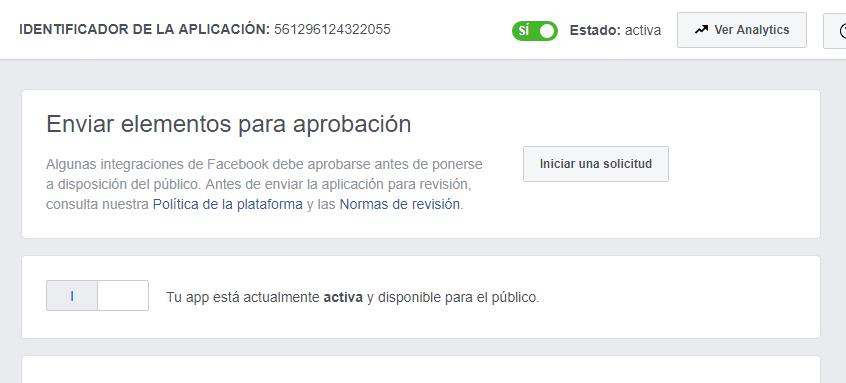 activar aplicacion publica