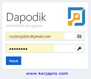 email dan pasword login di https://ptk.datadik.kemdikbud.go.id/