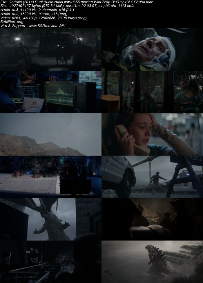Godzilla (2014) Dual Audio Hindi 480p BluRay 400MB ESubs | SSR Movies