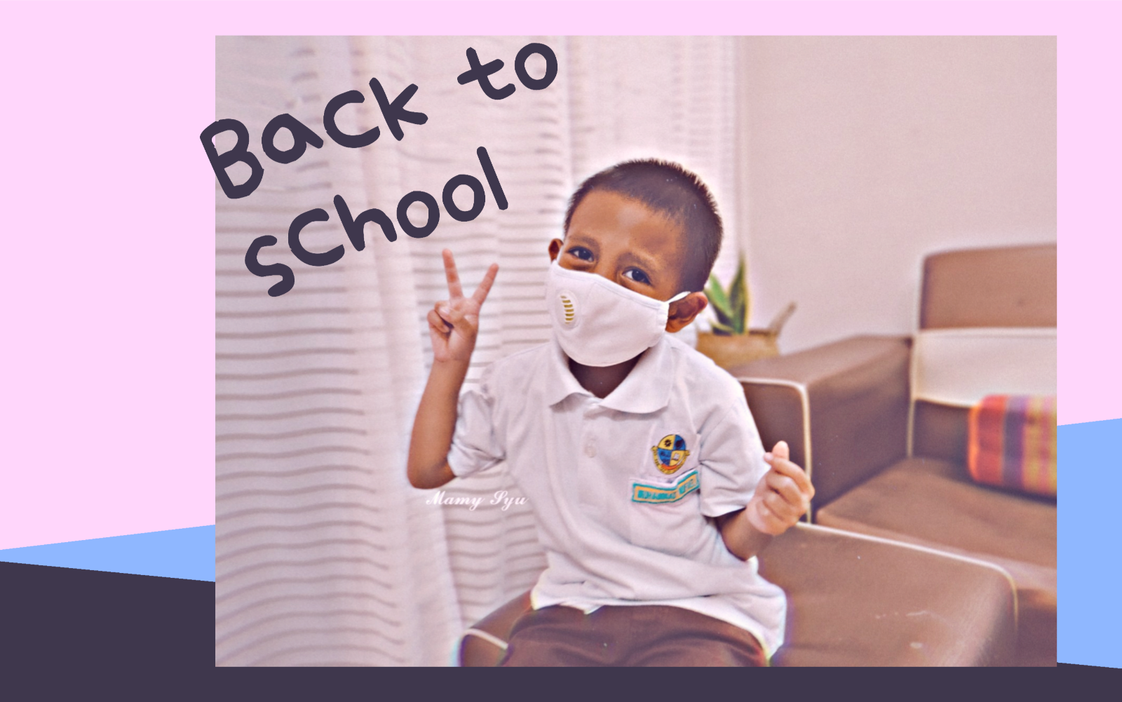 Back to school lumavoe face mask saranan penutup mulut fabrik