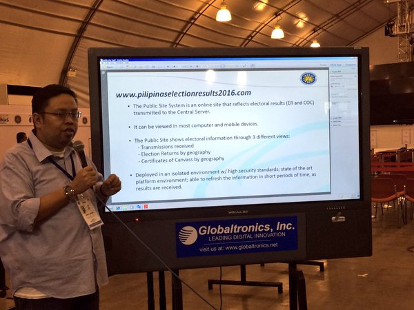 Comelec's public website where you can see the election results now available.