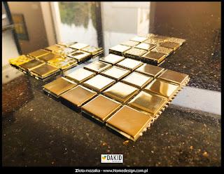złota mozaika do łazienki