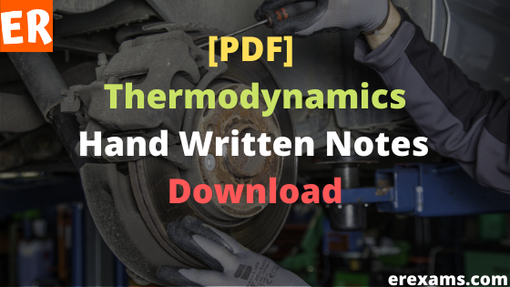 Thermodynamics Notes Free Pdf Download
