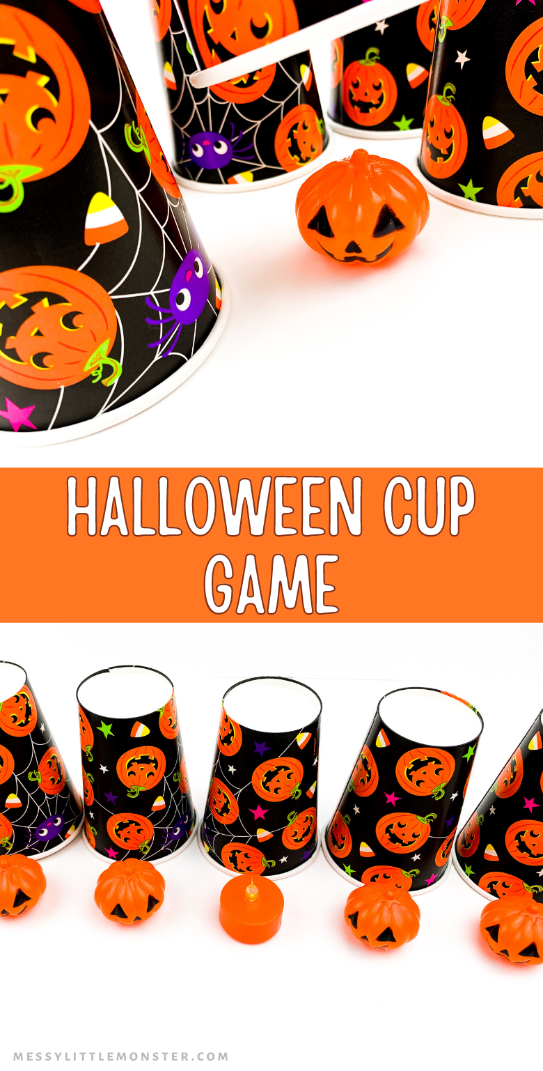 Halloween cup game . This look and find game is a low prep, fun, family Halloween game.