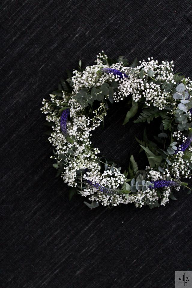 ristiäiset, kranssi,flowers