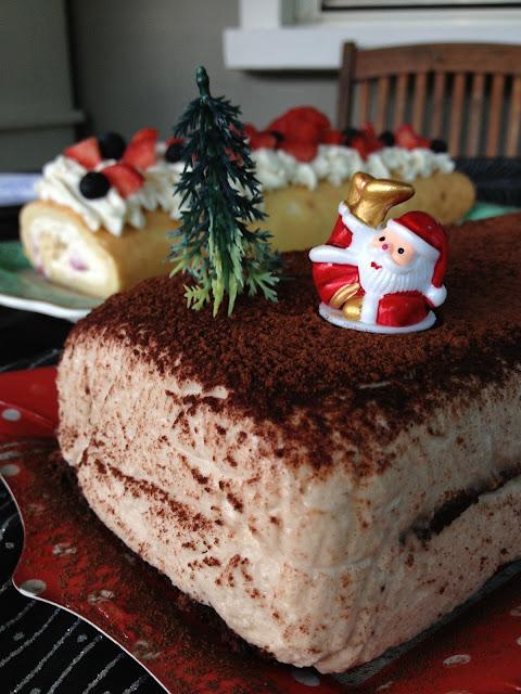 dacquoise, cacao, crème de marrons, Noël,