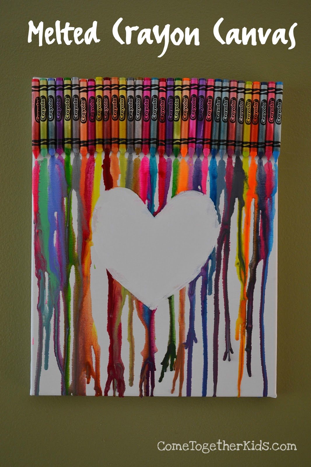 Come Together Kids Melted Crayon Canvas