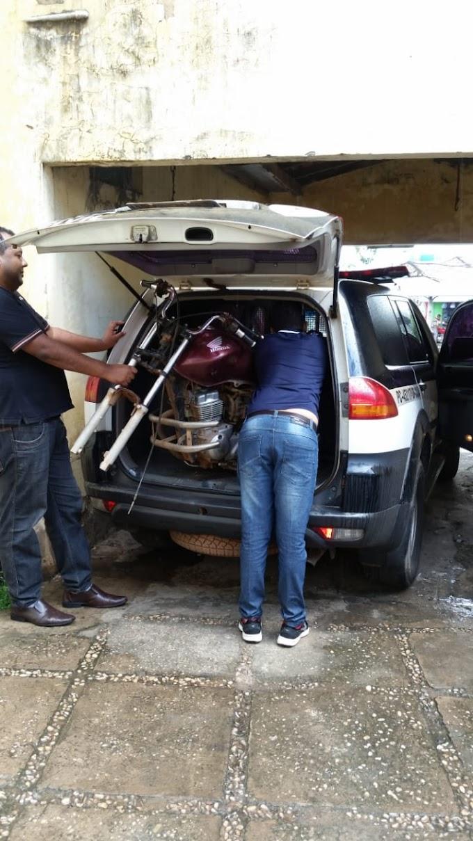 NA MIRA - Policia Civil identifica novo local de desmanche de motos nas proximidades do Balneário Veneza em Caxias