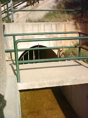 Pantano ,embalse, Pena ,Beceite ,frontera ,Valderrobres, túnel Parrizal, boca