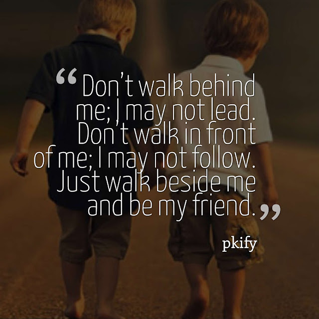 Don't Walk Behind Me I May Not Lead Don't Walk in Front of Me I May Not Follow Friendship Quotes
