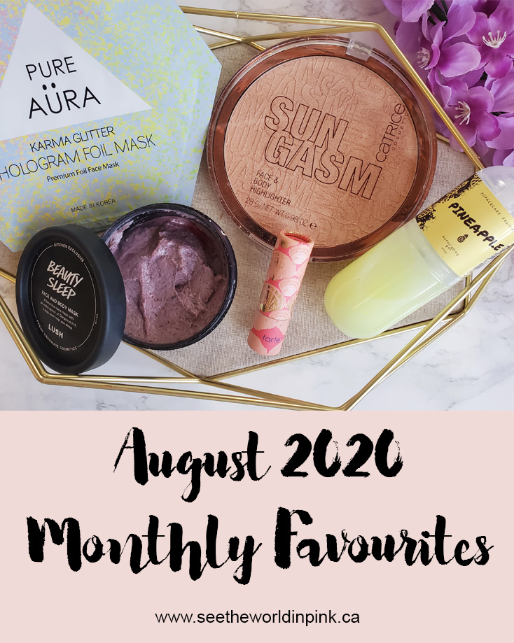 August 2020 - Monthly Favourites!