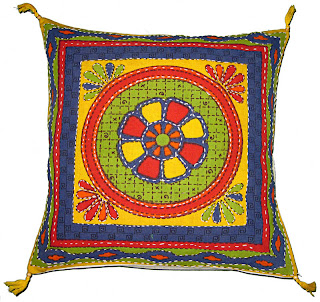 Hand Embroidered Decorative Indian Cushion Covers & Pillow Cases