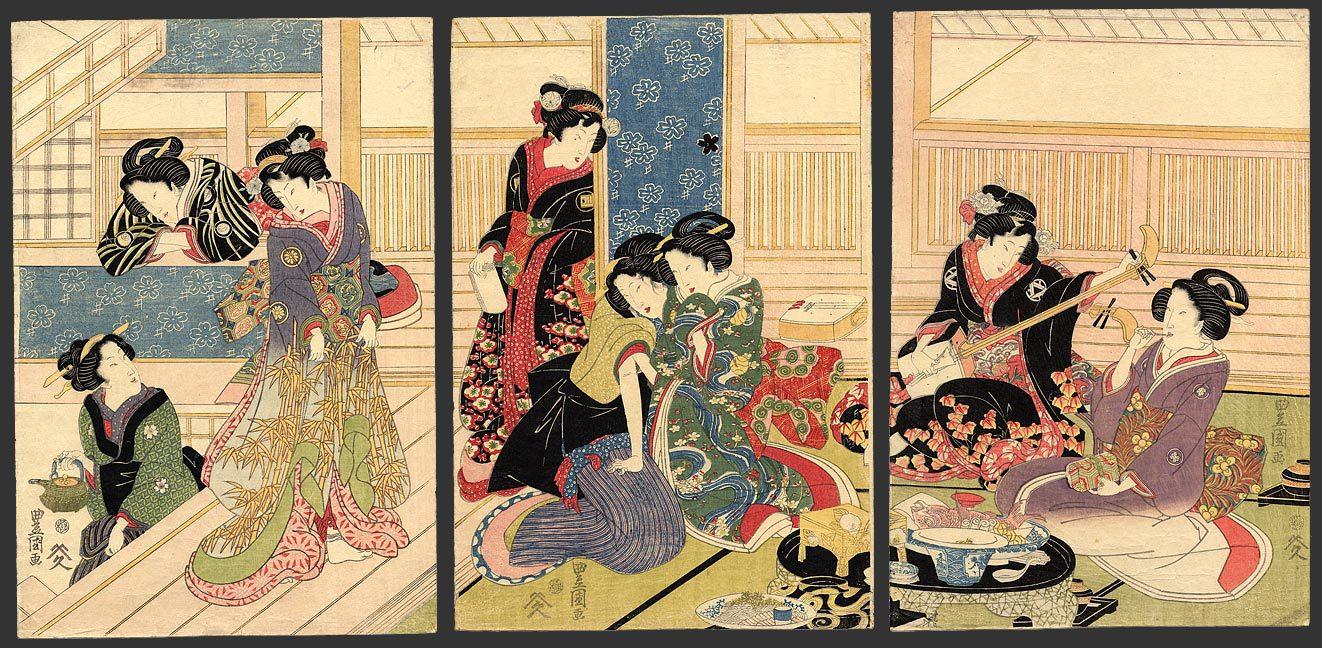 Сексуальная женщина в гравюре