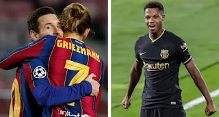 Top 10 Barca players with most goal contributions in 2020/21