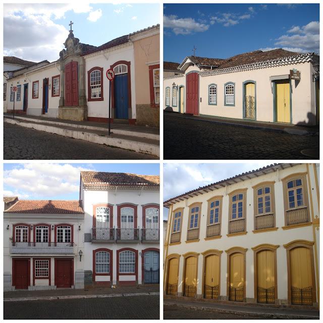 Casario histórico na Rua Getúlio Vargas - São João del Rei - MG