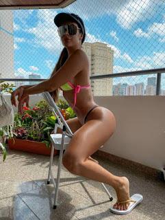 Denise Dias improvisa para manter o bronze