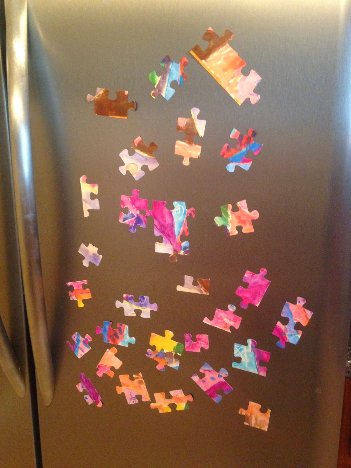 Silhouette tutorial, custom puzzle magnet, DIY, do it yourself