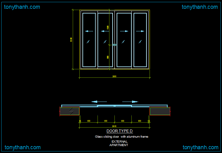 Aluminium Sliding Door Detail Dwg Block Of Alu Frame