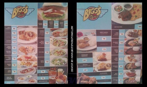 biggs diner naga restaurant menu