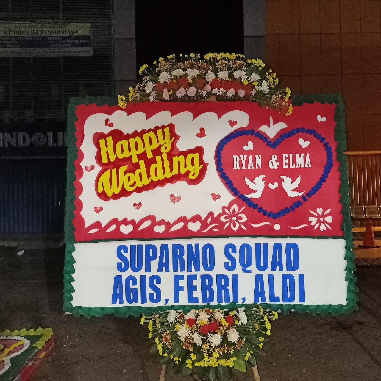 Bunga Papan Happy Wedding 020