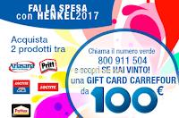 Logo Fai la spesa con Henkel e vinci Gift Card Carrefour da 100€