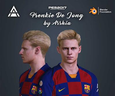 PES 17 Frenkie de Jong (FCB) Face by Arshia