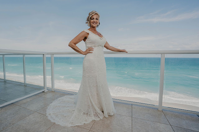 Portrait of Bride on pier for the beach
