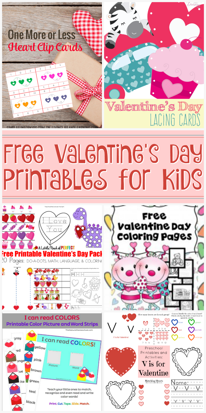 The Life of Jennifer Dawn: Free Valentine\'s Day Printables for Kids ...