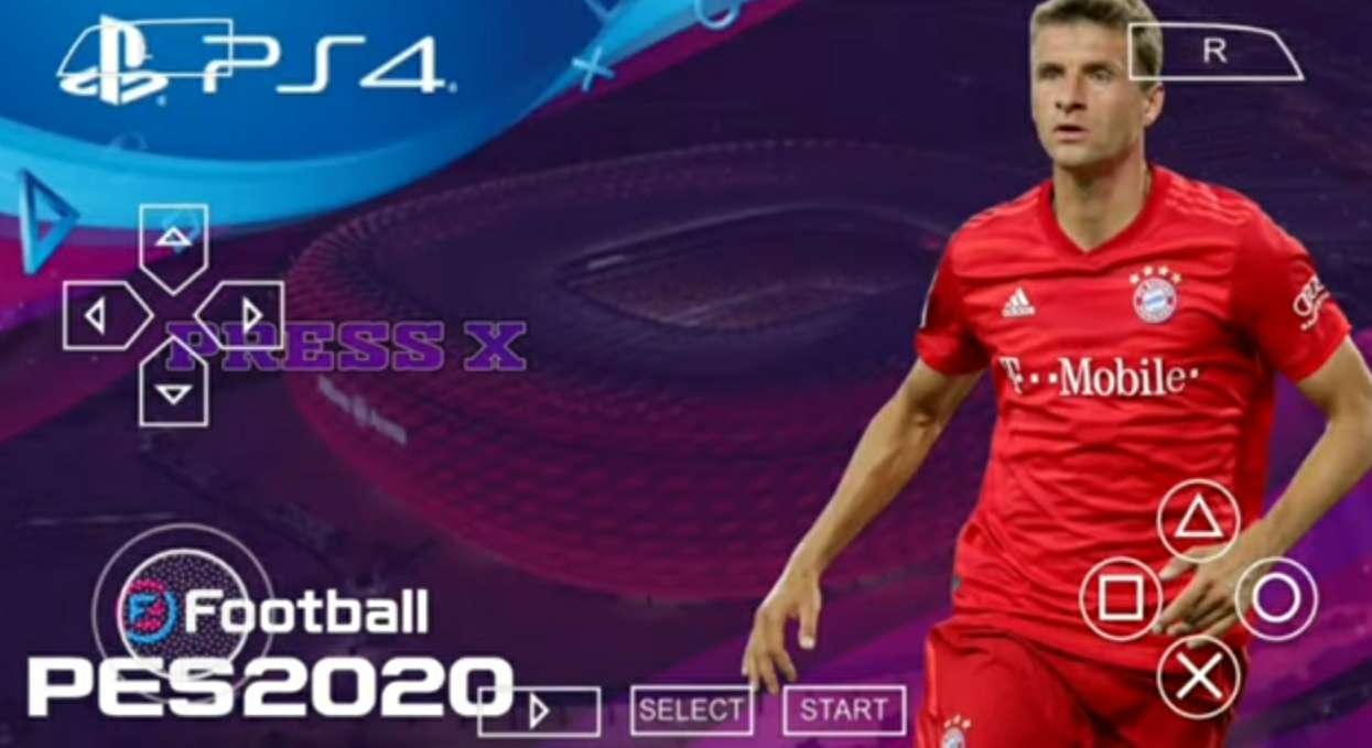 PES 2020 PPSSPP MOD CAMERA PS4 ENGLISH VERSION FOR ANDROID