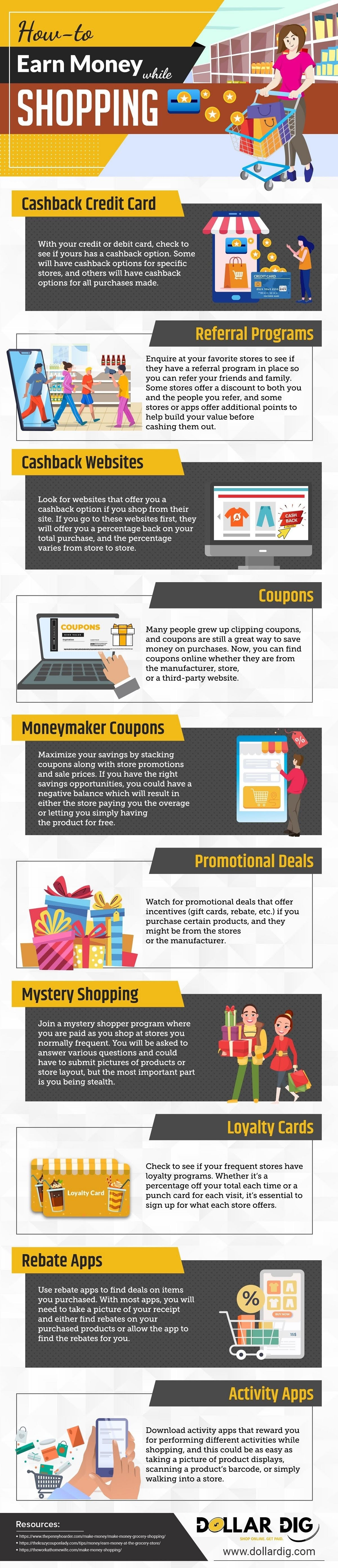 How to Earn Money while Shopping #infographic