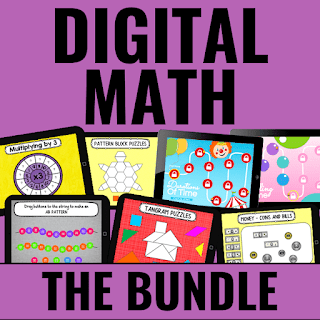 Cover of Digital Guided Math Activities bundle