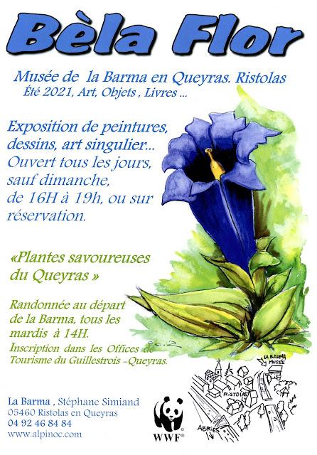 Exposition de peintures de fleurs des Alpes
