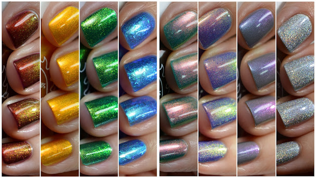 Great Lakes Lacquer True North Collection swatches