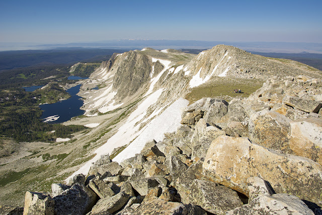 view from the summit of Medicine Bow Peak in the Snowy Range of southern Wyoming