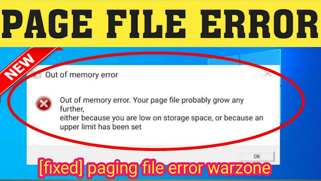 paging file error warzone,how to fix paging file error warzone, paging file error, it support