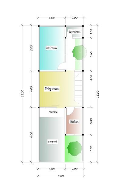 1st floor plan of beautiful house plan 07