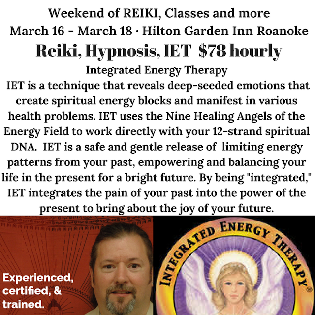 Weekend of REIKI & Access Bars classes in Roanoke