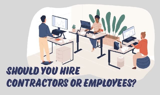 Should You Hire Contractors or Employees? #infographic