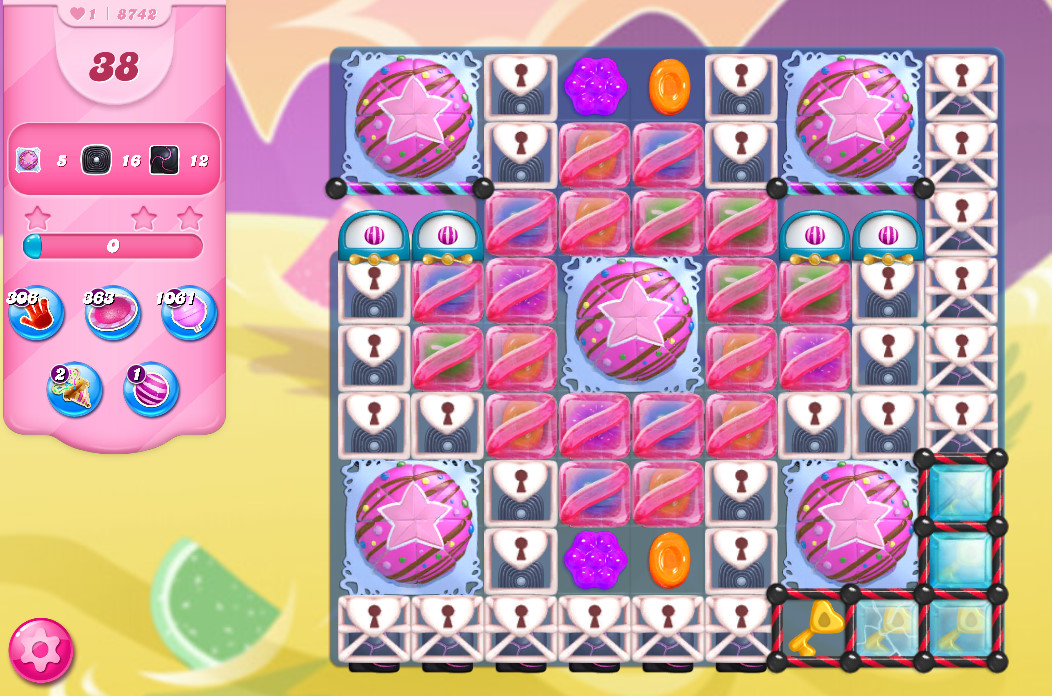 Candy Crush Saga level 8742