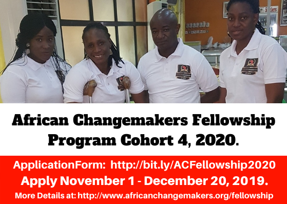 African ChangeMakers Fellowship Program (#ACFellowship) 2020