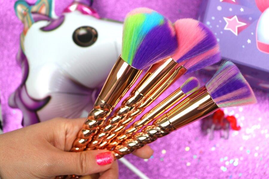 glam shine beautyblog lahaye unicorn make up pinsel set bei dm. Black Bedroom Furniture Sets. Home Design Ideas