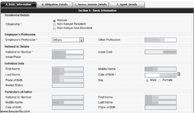 basic information tab