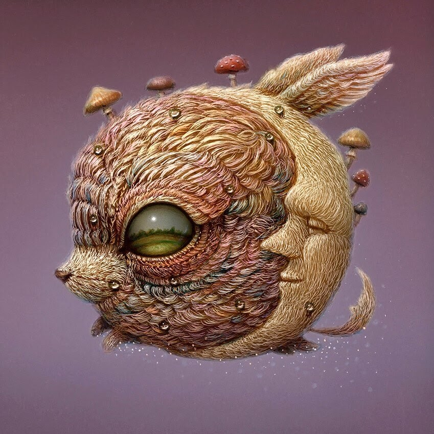 09-The-moon-creature-Surreal-Creature-www-designstack-co