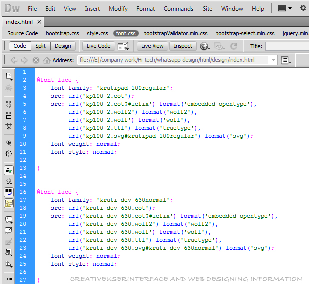Embedding Fonts in your Web Site with CSS and @font-face
