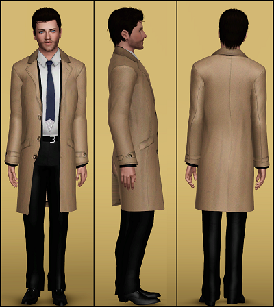 My Sims 3 Blog Castiel S Trench Coat By Rayne