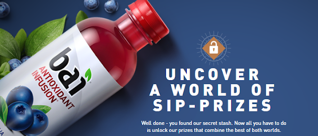 bai has a secret stash and they want you to enter daily for your chance to win one of two fantastic vacations or you may win free bai drinks or other great prizes!