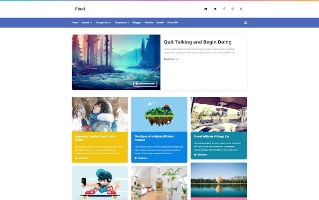 Pixel - Idntheme - Latest Version Premium Blogger Template Free Download.
