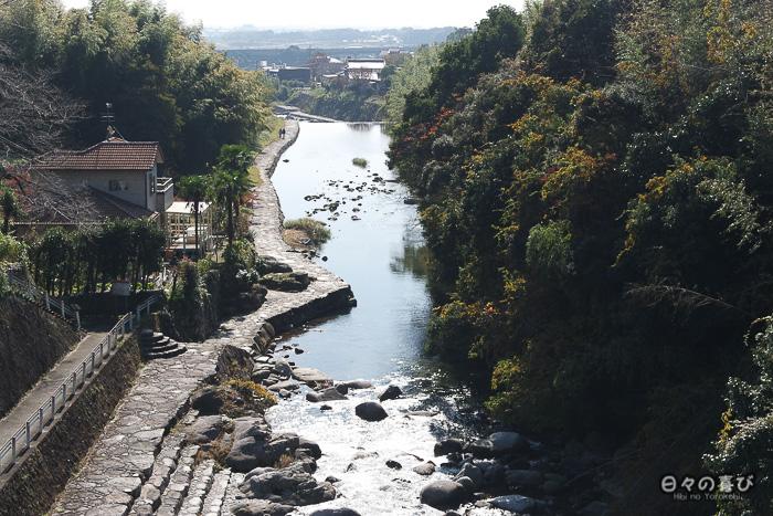 vue sur la rivière et la campagne au loin, Kunenan, Kanzaki, Saga