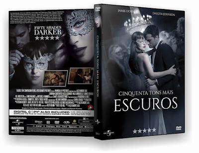 Resultado de imagem para cinquenta tons mais escuros capa dvd