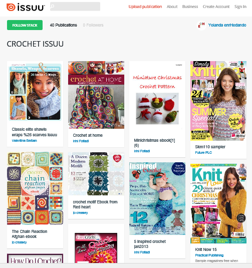 40 Revistas Crochet en Stacks de Issuu